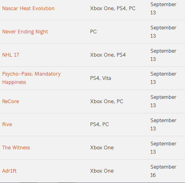 game list 04