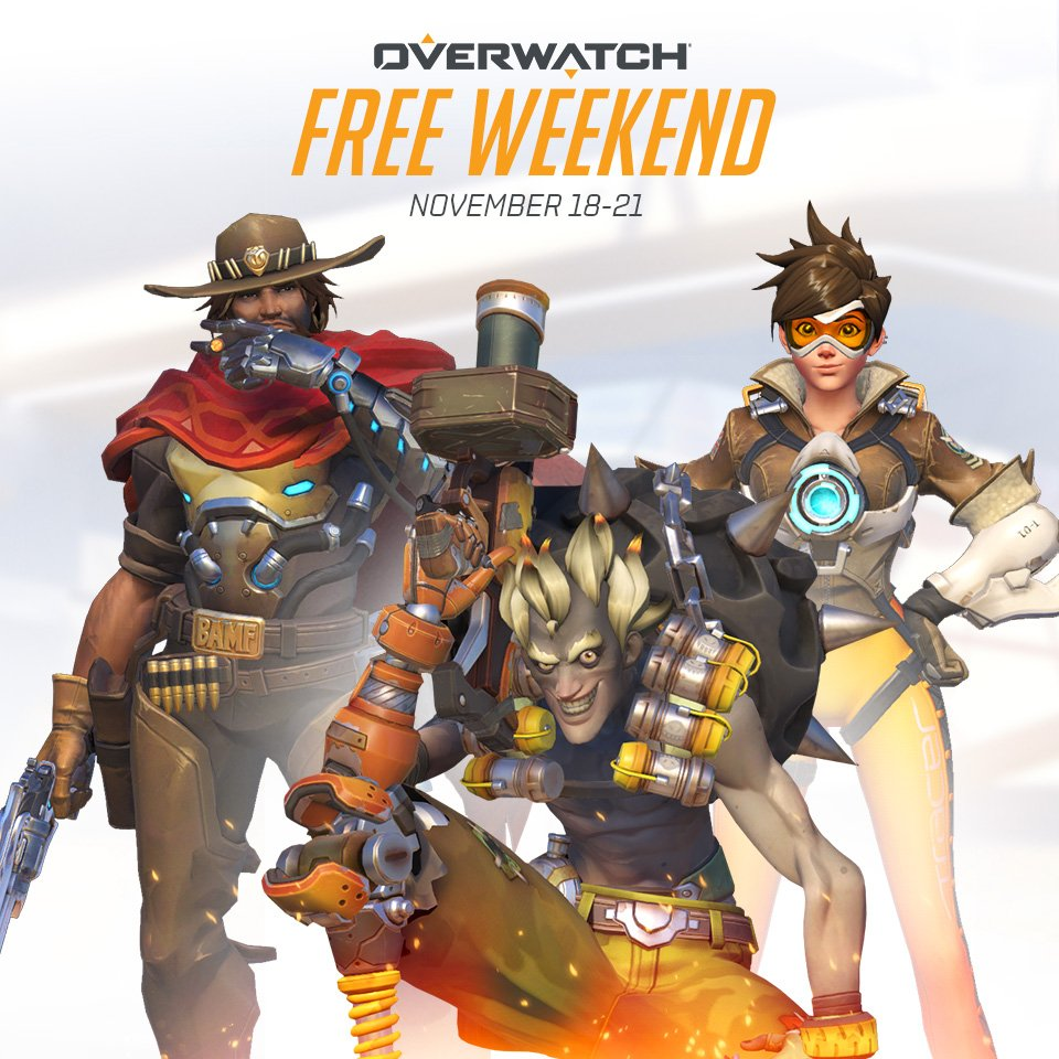 PLAY OVERWATCH FREE NOVEMBER 18–21