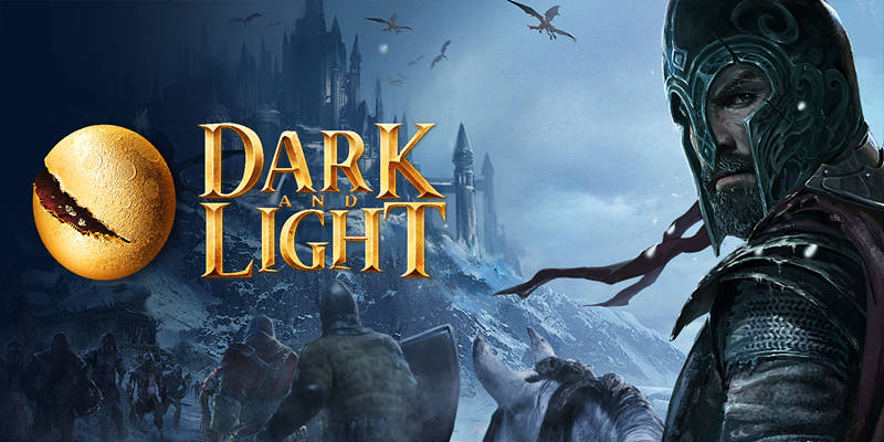 dark and light over