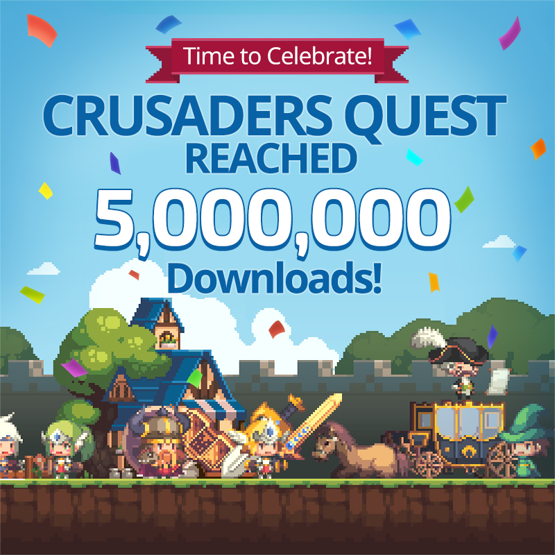 Crusaders-Quests-5-million-downloads