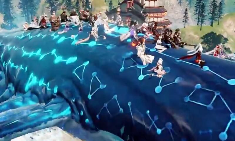 เจ๋งเฟร่อ Revelation (จีน) อัพวาฬยักษ์ขน 50 ฮีโร่เหาะลุยกิลด์วอร์
