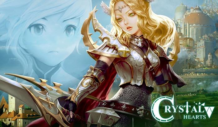 Crystal Hearts เกมส์มือถือ RPG เปิดโหลดแล้วระบบ Andriod สโตร์เกาหลี