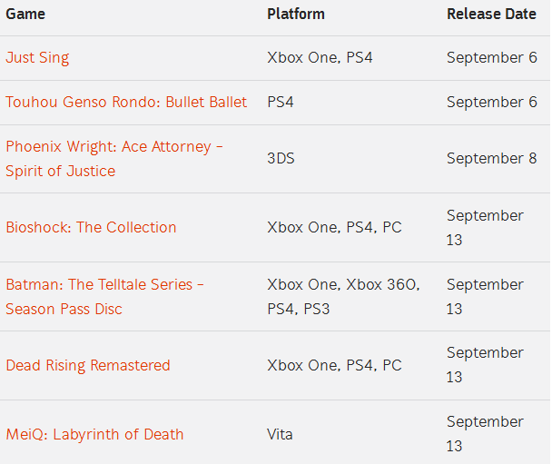 game list 03