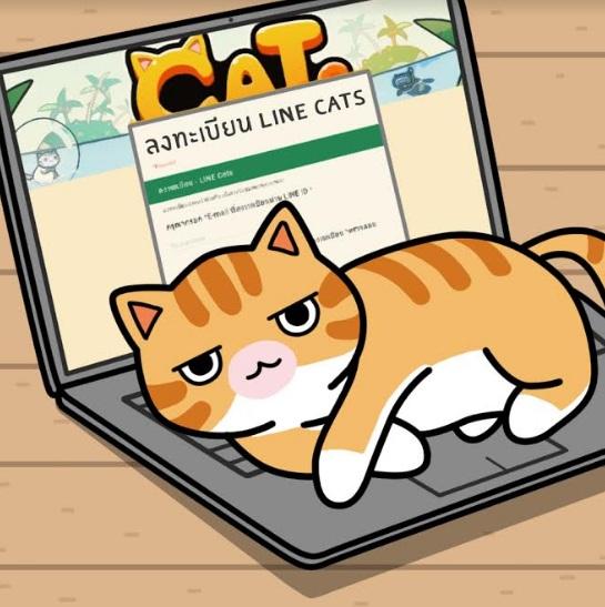 LINE Cats18417-1
