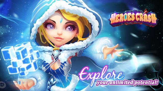 มาใหม่ Heroes Crash เกมการ์ดต่อสู้ RPG สายเวทย์ ลง Android แล้วนะ