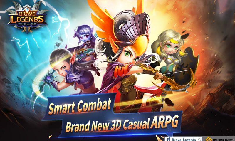 Brave Legends: Heroes Awaken เกมมือถือเบาสมอง CBT 26 กันยานี้
