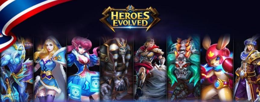 Heroes Evolved เกมโมบาย MOBA ผุดเซิร์ฟไทย พร้อมภาษาไทยให้เล่นแล้ว