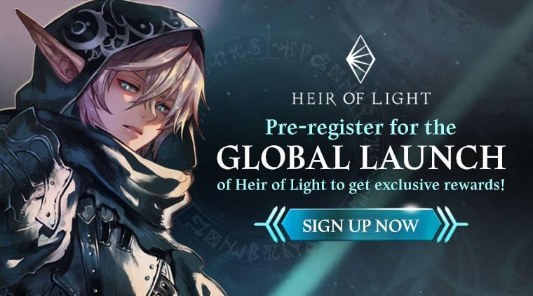 Heir of Light pre register 00