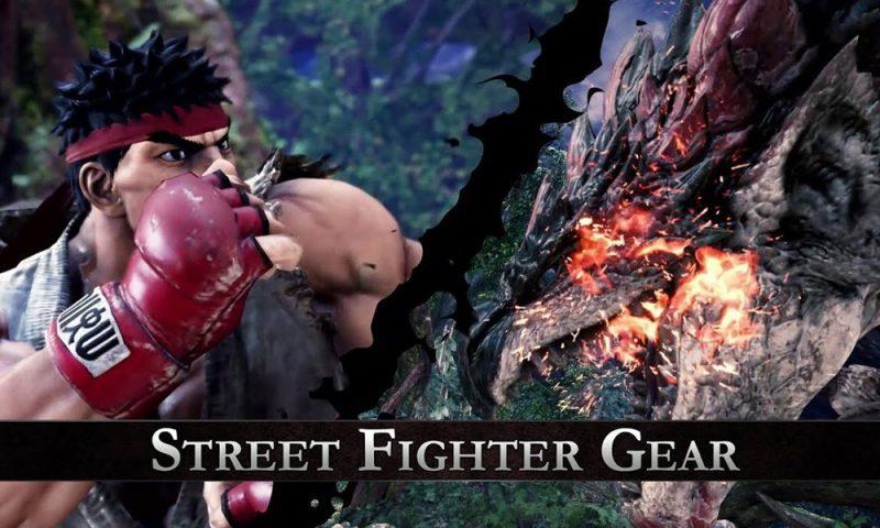 เผยเกมเพลย์ Ryu ล่าแย้ในอีเวนท์ MHW ปะทะ Street Fighter V