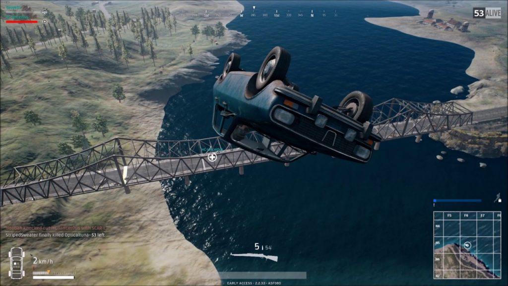 PUBG Cars fly 01