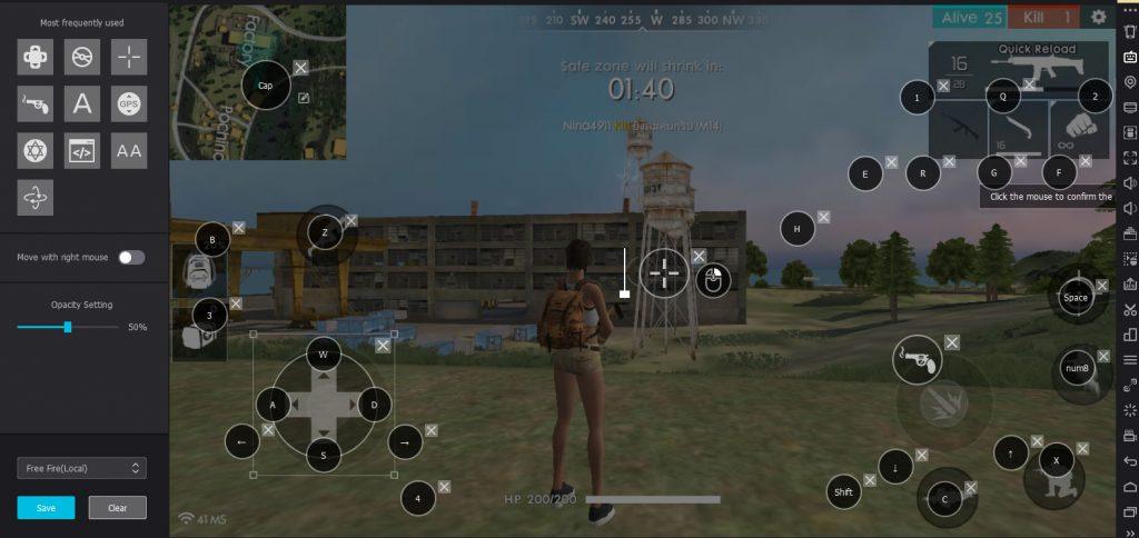 play freefire on nox player 05