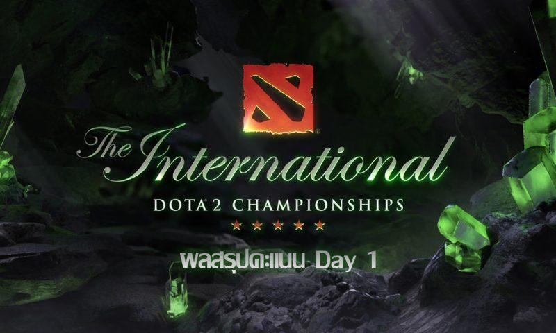 The International 2018 สรุปผลตารางคะแนนในรอบแบ่งกลุ่ม Day 1