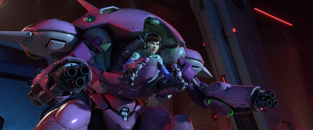 When D.Va isn't enjoying the limelight she is working tirelessly to ensure she is prepared for the next Omnic attack.
