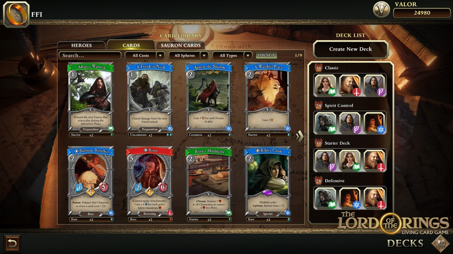 The Lord of the Rings Living Card Game screenshot 2