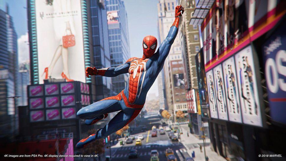 spider man ps4 swing