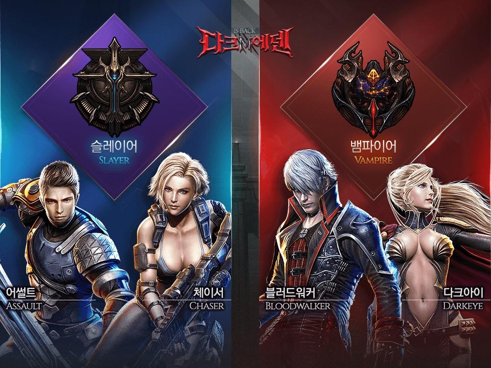 Dark Eden M Playable classes
