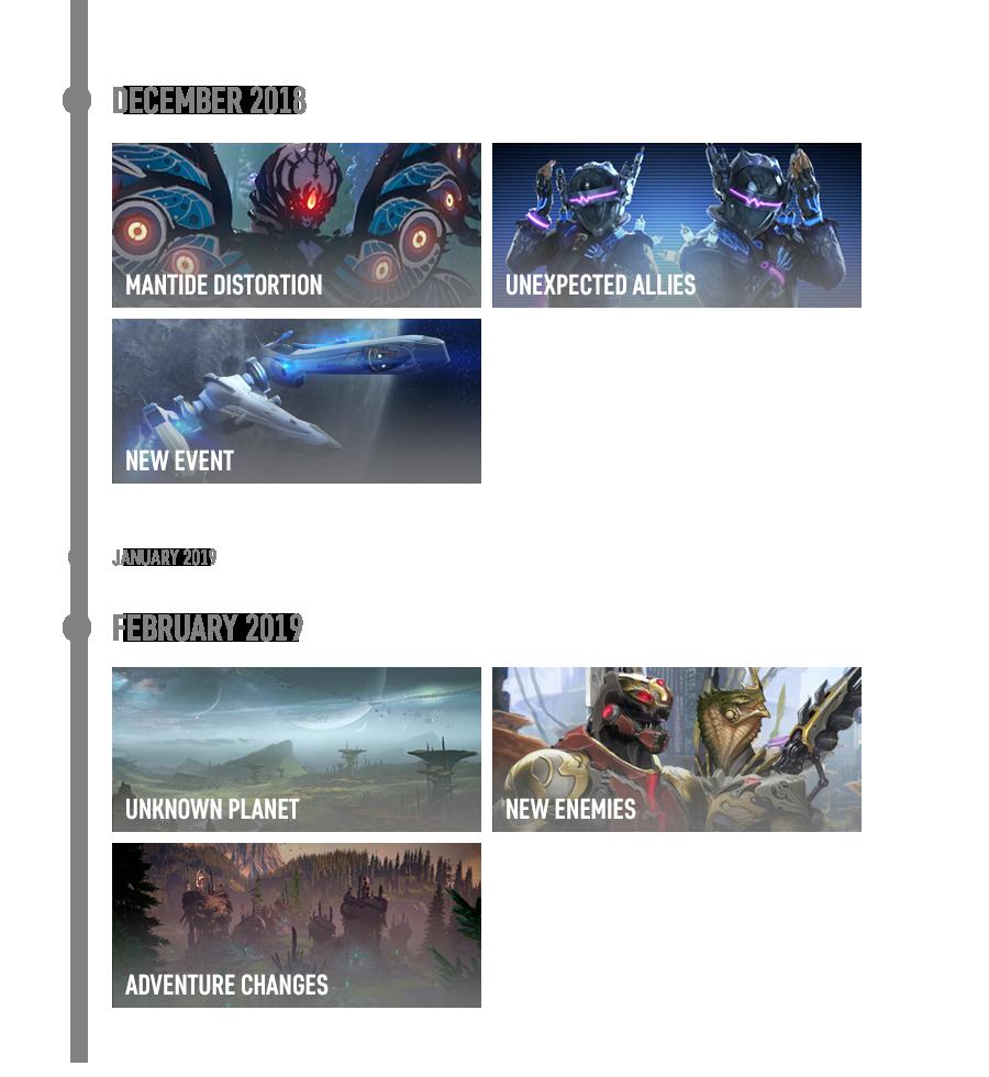 Skyforge Winter 2018 2019 update roadmap