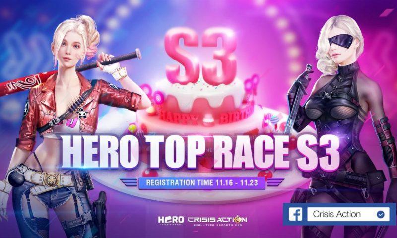 Crisis Action ครบรอบ 3 ปี HERO TOP RACE S3 เริ่มต้นในวันนี้แล้ว