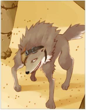 Desert Wolf Card