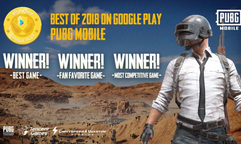 PUBG Mobile สุดยอดเกมเอาชีวิตรอดคว้ารางวัลเกมมากมายภายในปี 2018