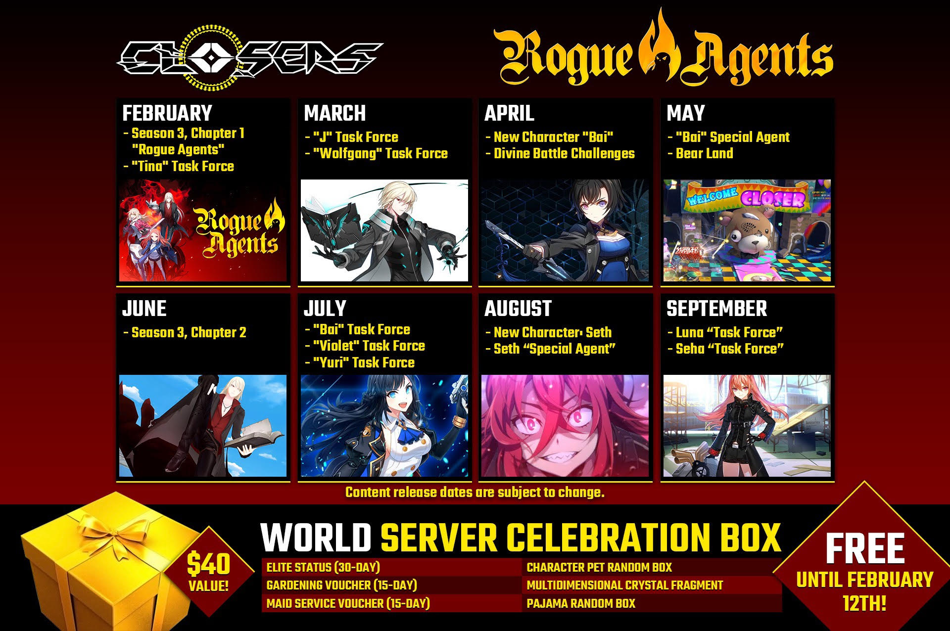 Closers 2019 roadmap preview