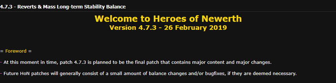 Heroes of Newerth Forum announcement 00