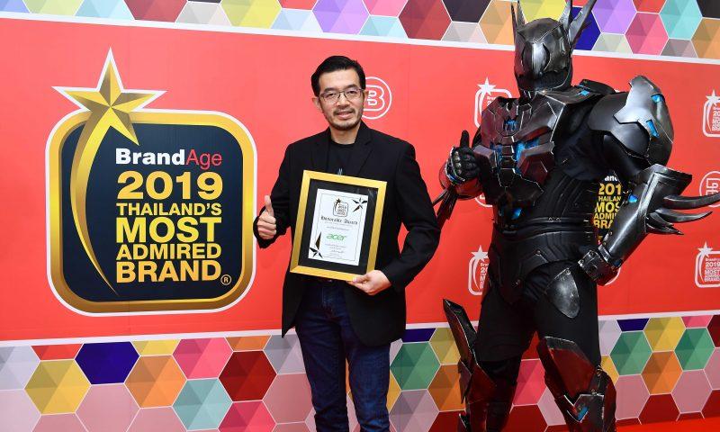 Acer ตอกย้ำผู้นำไอทีรับรางวัล Thailand's Most Admired Brand 2019