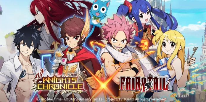 Knights Chronicle ประกาศเปิดตัวการร่วมมือกับการ์ตูนชื่อดัง Fairy Tail