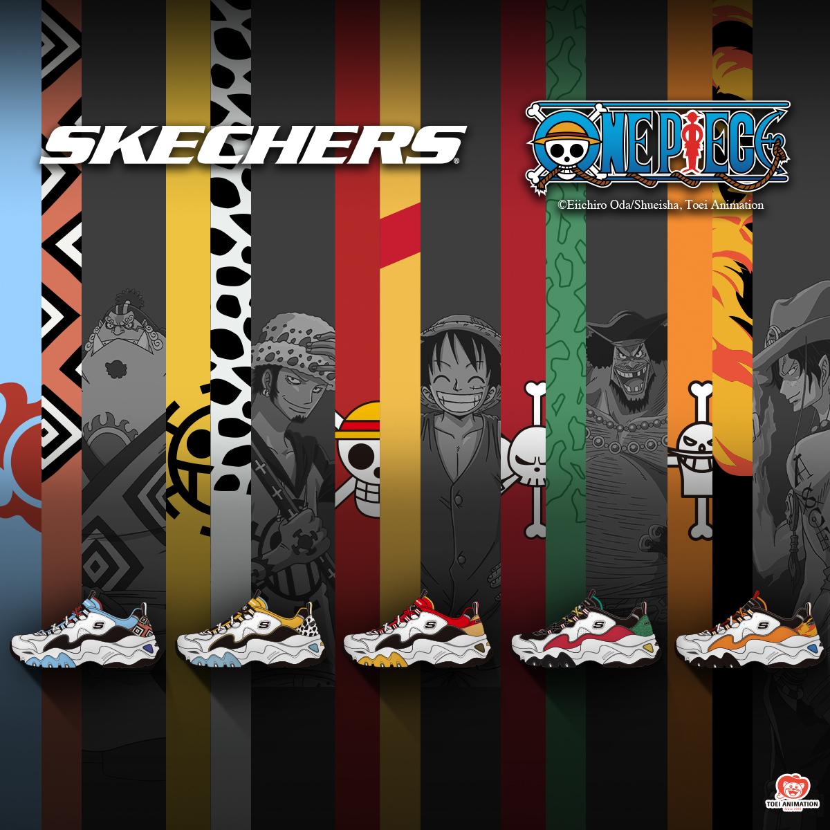 Skecher Dlite x One Piece Collection