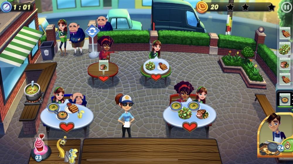 Diner Dash Adventures managing the diner