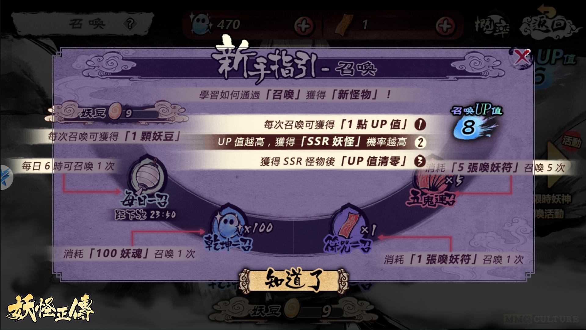 Yokai Spirits Hunt Taiwan server UP points system