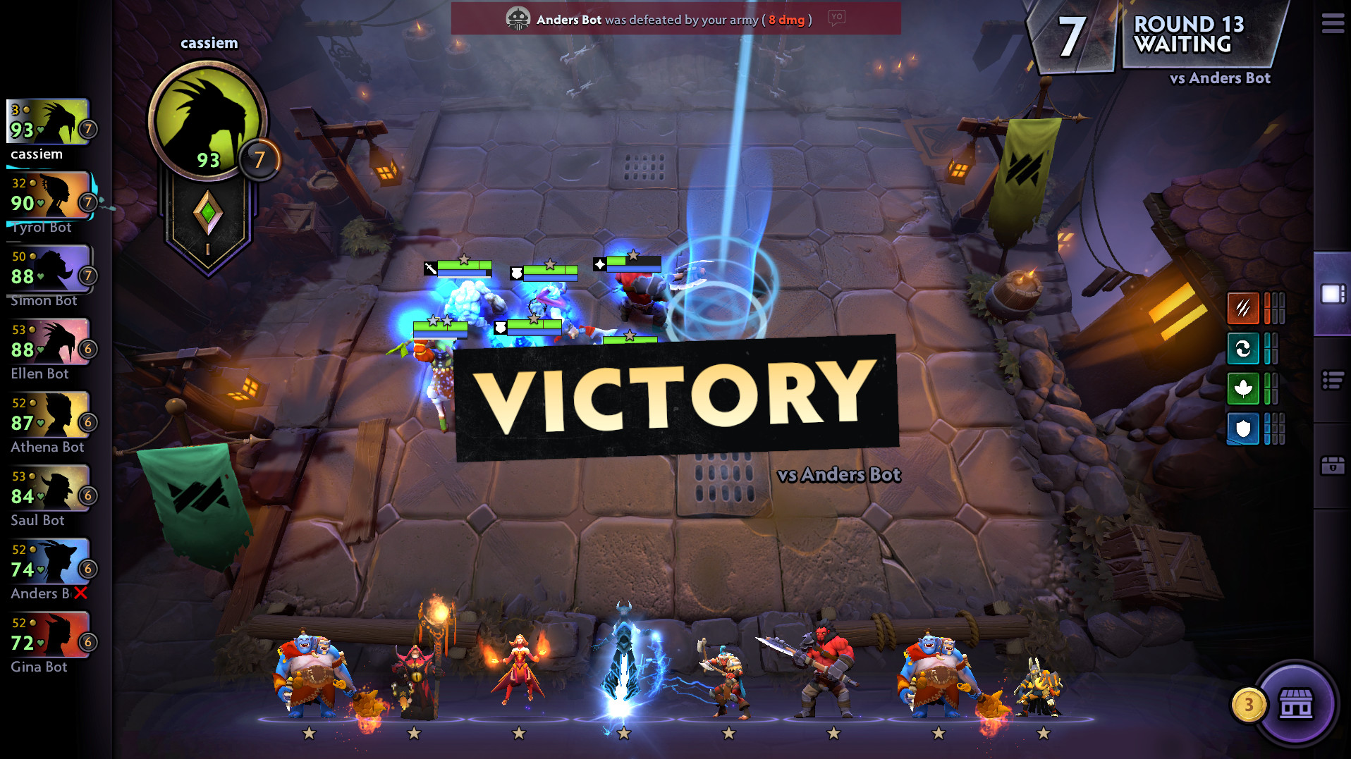 Dota Underlords Victory