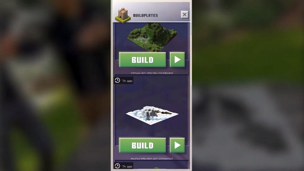 Minecraft Earth Closed Beta Build Plates
