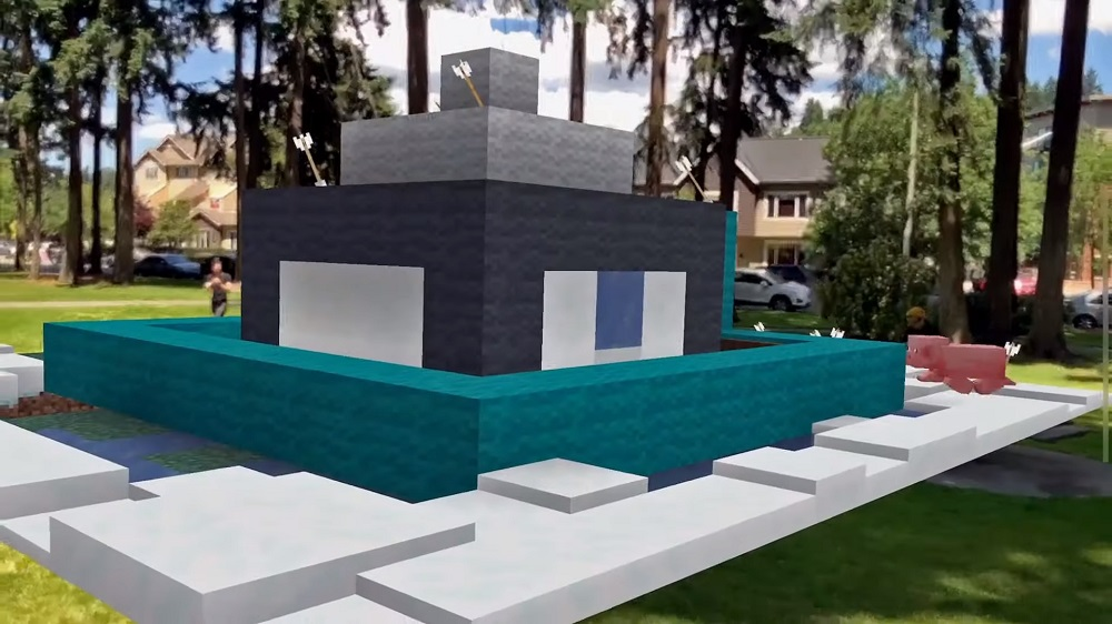 Minecraft Earth Closed Beta Real World Life Size
