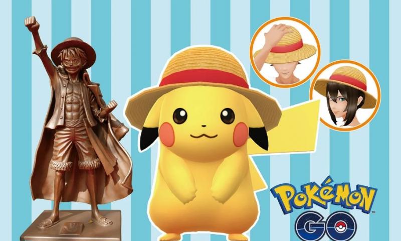 ตั้งตารอ Pokemon GO แท็กทีม One Piece ตามล่าหาหมวกลูฟี่