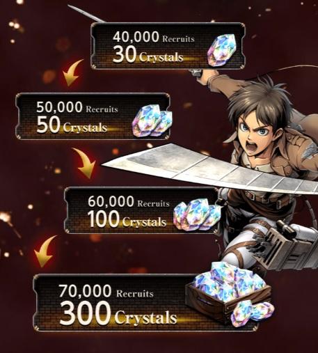 Attack on Titan Tactics pre registratio rewards