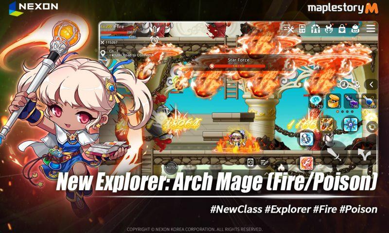 MapleStory M อัพเดทฮีโร่ใหม่ Arch Mage จัดเต็มได้เลยวันนี้