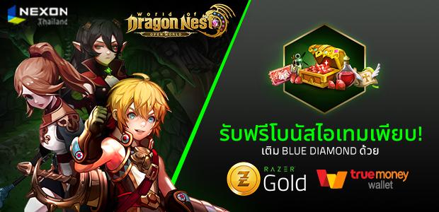 World of Dragon Nest ร่วมกับ Razer Gold แจกโบนัสไอเทมเพียบกระเป๋าเก็บไม่พอ