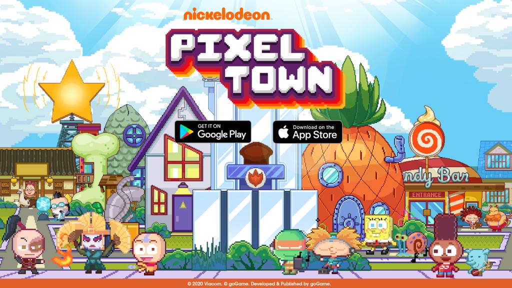 Nickelodeon Pixel Town 060663