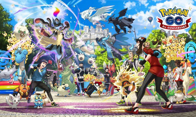 Pokemon Go เกมมือถือจับโปเกมอนสุดฮิตฉลองครบรอบปีที่ 4