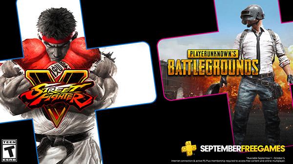 PlayStation Plus ประกาศเกมฟรีเดือนกันยายน PUBG และ Street Fighter V