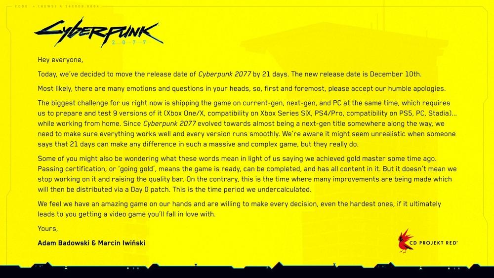 Cyberpunk 2077 28102020 2
