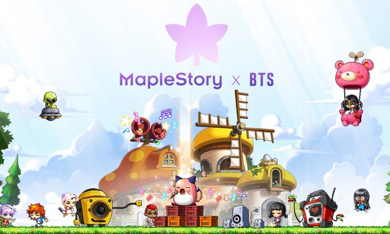 เปิดตัวแล้ว ไอเทมเกม MapleStory ที่ออกแบบโดยวง BTS