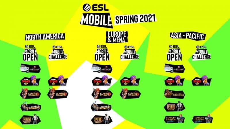 ESL เปิดตัวทัวร์มาเมนต์ ESL Mobile Open จัดแข่ง 5 เกมมือถือชื่อดัง