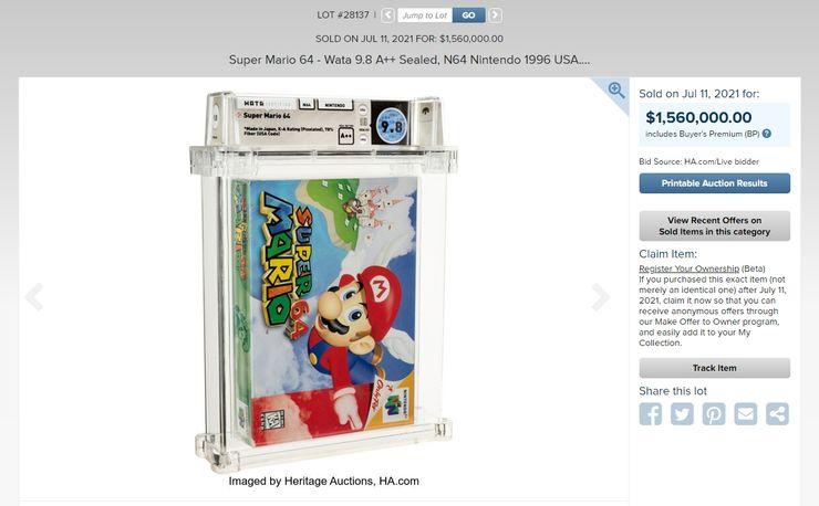ซื้อไหวไหม 50,824,800 บาท เกม Mario ที่แพงที่สุดในโลก