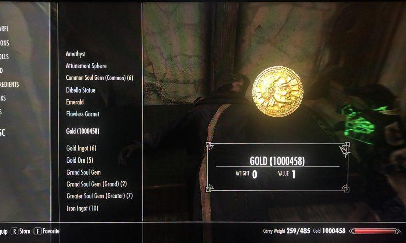 แฟนเกม Skyrim ใช้พยายามกว่า 100 ชั่วโมง เก็บเงินจนได้ 1 ล้านเหรียญทอง