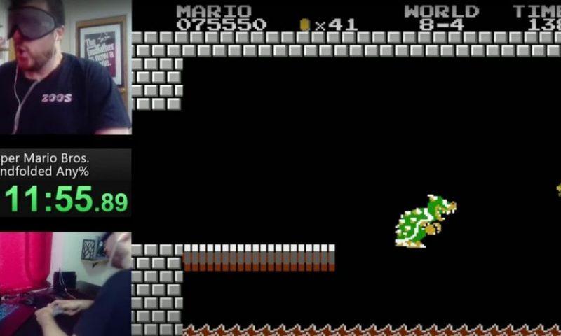 11.55 นาที สถิติโลกใหม่เล่น Super Mario Bros. ปิดตาเร็วที่สุดในโลก