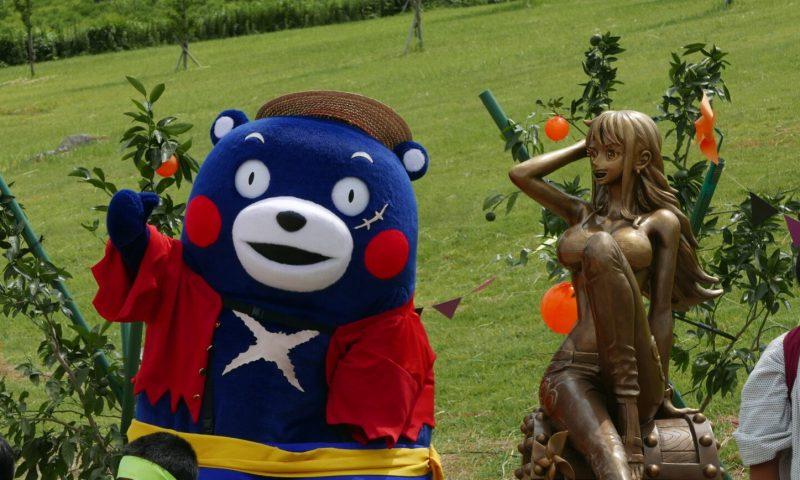 เปิดตัวรูปปั้นทองสัมฤทธิ์ของ Nami ฟื้นฟูเหตุการณ์แผ่นดินไหวเมืองคุมาโมโตะ