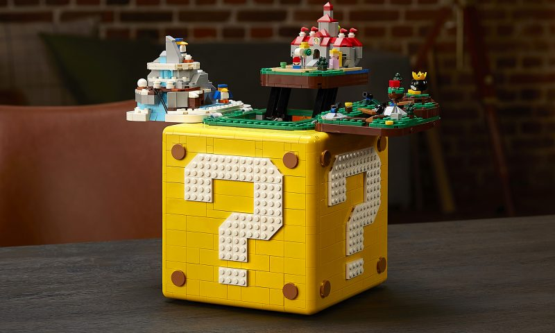 LEGO จับมือ Super Mario 64 ปล่อยชุดกล่องเลโก้เปิดปิดได้ 2,064 ชิ้น